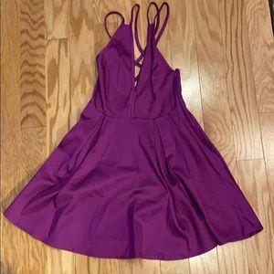 Nasty girl short club dress in purple size xxs
